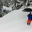 Brenner Downhill 2012 Wallride im Schnee