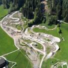 Luftbild 4X Weltcup-Strecke Leogang